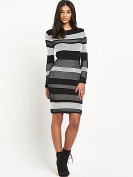 lipsy-michelle-keegan-mesh-stitch-knitted-dress