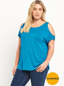 so-fabulous-eyelet-cold-shoulder-jersey-tunic-top