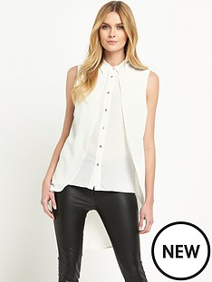 v-by-very-double-layer-dipped-hem-blouse