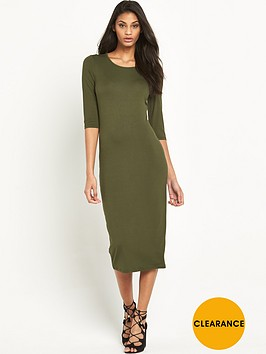 v-by-very-34-sleeve-jersey-midi-dress
