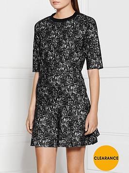 calvin-klein-raana-tweed-look-dress-black
