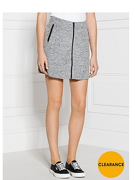 calvin-klein-fortune-zip-front-skirt-grey