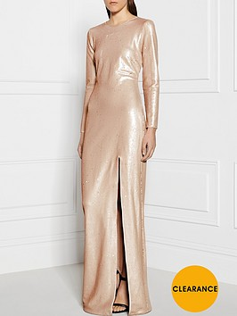 halston-heritage-long-sleeve-sequin-gownnbsp