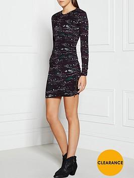 pam-gela-camo-print-twisted-zip-dress