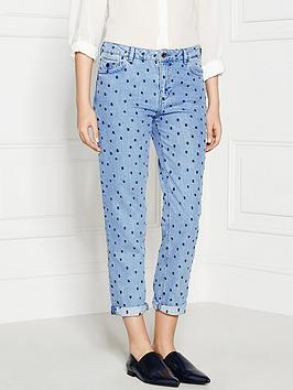 maison-scotch-polka-dot-boyfriend-jeans