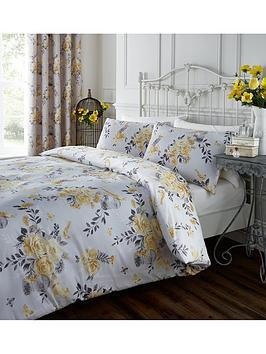 catherine-lansfield-birdcage-blossom-duvet-cover-set-ochre