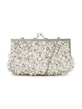 v-by-very-pearl-detail-frame-clutch-bag
