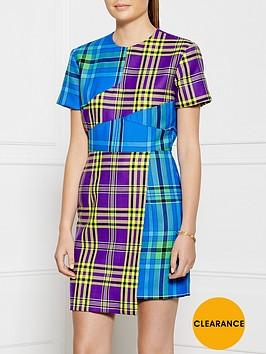 house-of-holland-patchwork-tartan-dress