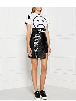 house-of-holland-patent-leather-wrap-front-mini-skirt
