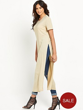 glamorous-side-split-longline-knit-top