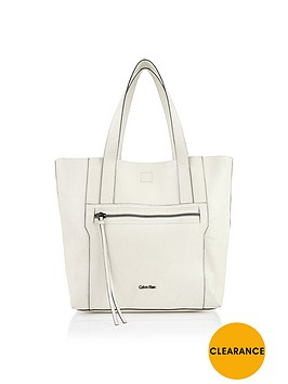 calvin-klein-sadie-cracked-leather-tote-white