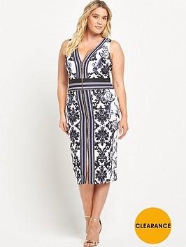 forever-unique-curve-curve-zip-front-midi-dress