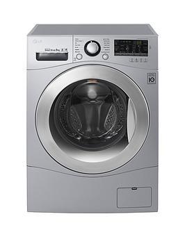 lg-fh4a8tdn4-8kg-load-1400-spin-washing-machine-silver