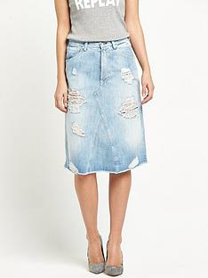 replay-ripped-denim-skirt