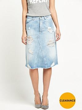 replay-ripped-denim-skirt