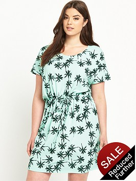 junarose-curve-palm-tree-print-tie-waist-jersey-dress