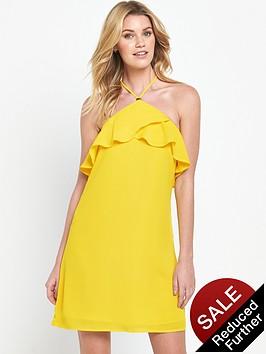 v-by-very-frill-halterneck-dress