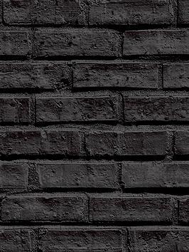 arthouse-black-brick-wallpaper