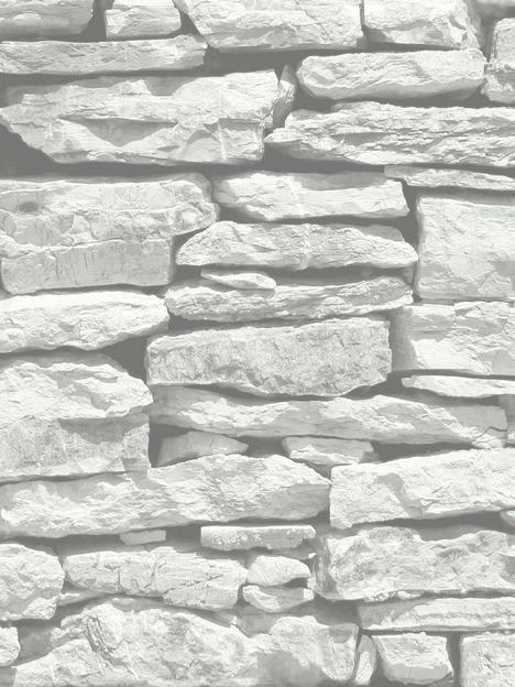arthouse-moroccan-stone-brick-wall-wallpaper-white