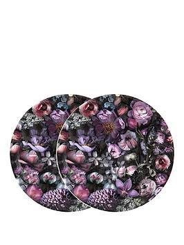 ted-baker-shadow-floral-set-of-2-coupe-plates