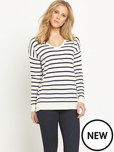v-by-very-v-neck-side-split-jumper