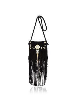 river-island-leather-fringe-amp-jewel-detail-cross-body-bag