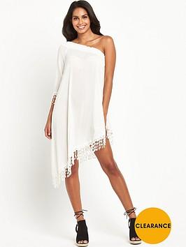 v-by-very-crochet-trim-one-shoulder-beach-dressnbsp