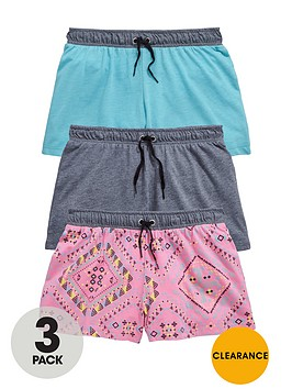 v-by-very-girls-aztec-shorts-3-pack