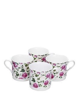 pink-rose-4-piece-afternoon-tea-mugs