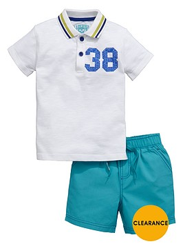 ladybird-boys-print-polo-and-ripstop-shorts-set-2-piece