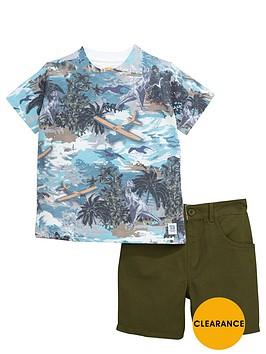 ladybird-boys-dinosaur-t-shirt-and-denim-shorts-set