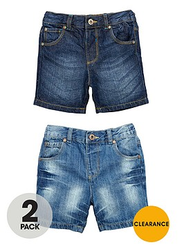 ladybird-boys-slim-fit-denim-shorts-with-stretch-waist-2-pack