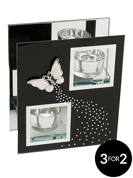 hestia-black-glass-and-butterfly-double-tea-light-holder