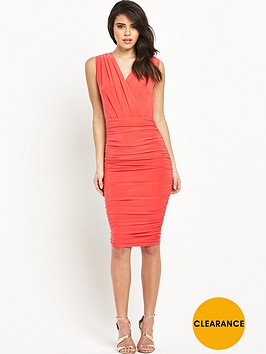 ax-paris-sleeveless-wrap-front-ruched-midi-dress