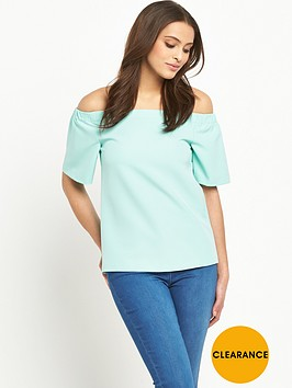 v-by-very-structured-frill-bardot-top