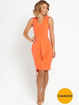 myleene-klass-ruffle-front-pencil-dress