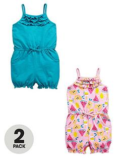ladybird-girls-frilly-jersey-playsuitsnbsp2-pack
