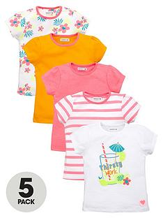 ladybird-girls-bright-and-printed-t-shirts-5-pack