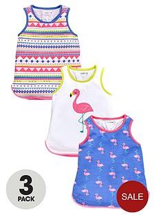 ladybird-girls-flamingo-print-vests-3-pack