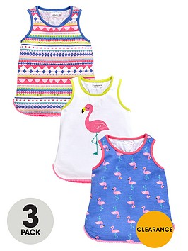 ladybird-girls-flamingo-print-vests-3-pack
