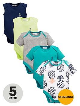 ladybird-baby-boys-bright-pineapple-bodysuits-5-pack