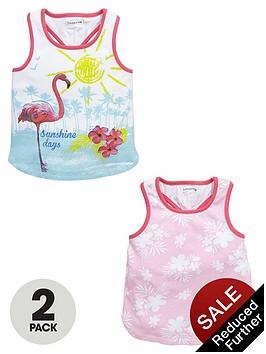 ladybird-girls-tropical-vests-2-pack