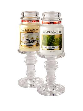 yankee-candle-2-glass-candle-stands-with-2-classic-large-jars