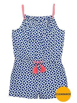 ladybird-girls-tile-print-playsuit