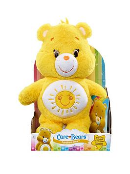 care-bears-medium-plush-with-dvd-funshine-bear