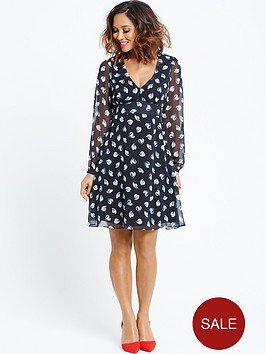 myleene-klass-heartnbspprint-tie-back-tea-dress