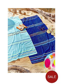 rainbow-beach-pack-of-2-blue-beach-towels