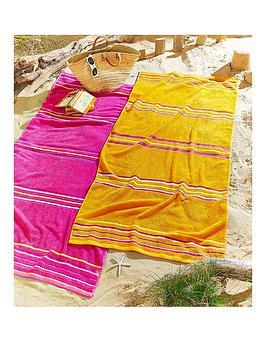 rainbow-beach-pack-of-2-beach-towels-in-pink-and-orange
