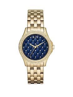 armani-exchange-blue-dial-gold-ip-case