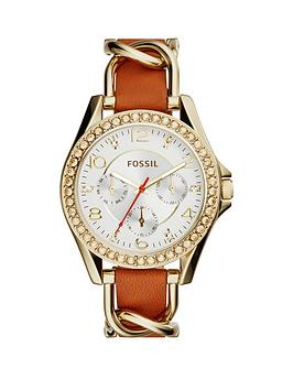 fossil-fossil-riley-multifunction-gold-tone-tan